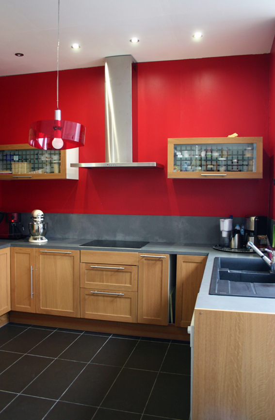 cr dence et plan de travail en b ton cir flore molinaro. Black Bedroom Furniture Sets. Home Design Ideas