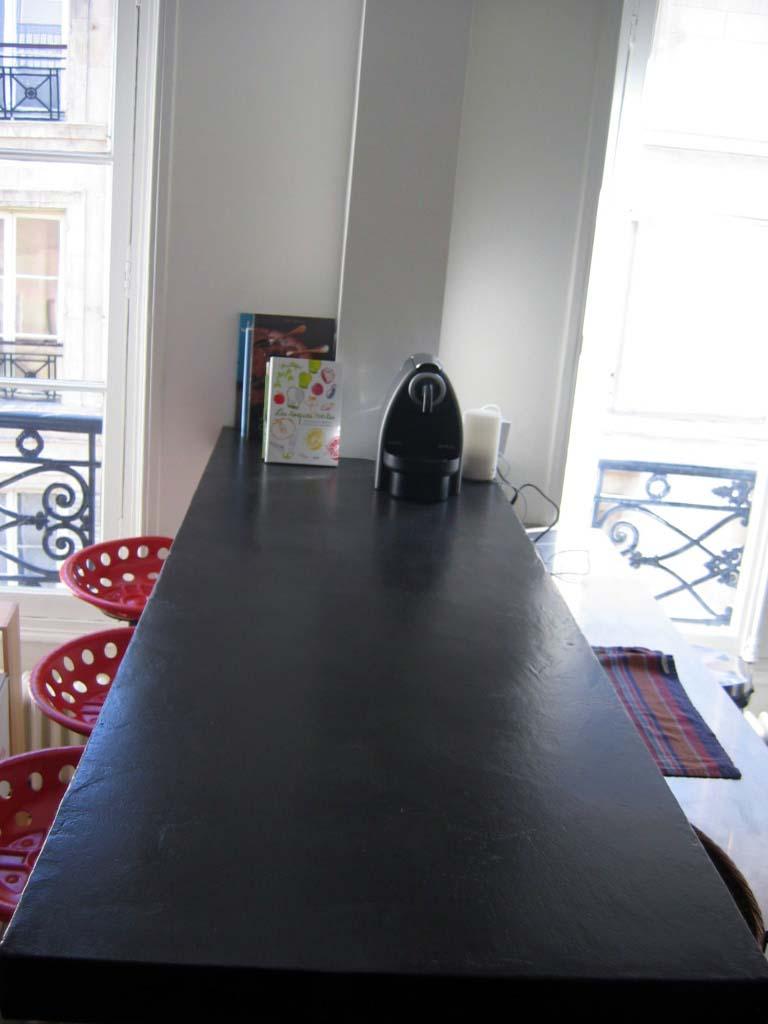 plan bar en mortier fin liss noir flore molinaro. Black Bedroom Furniture Sets. Home Design Ideas