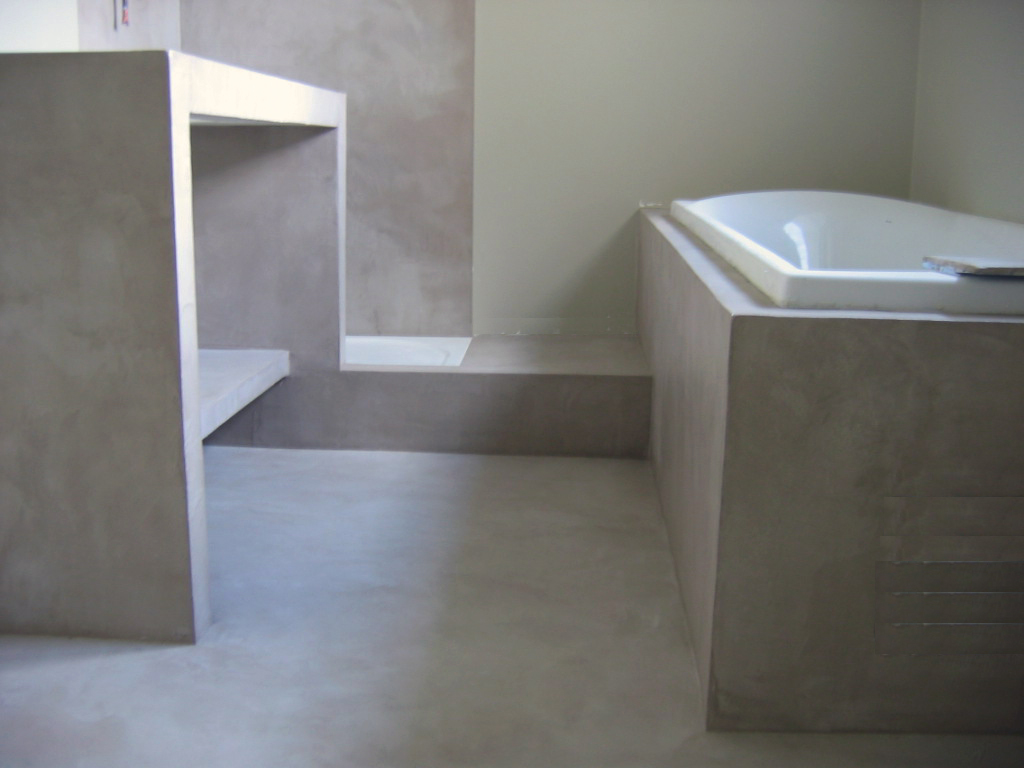 beton cire salle de bain sur faience solutions pour la. Black Bedroom Furniture Sets. Home Design Ideas