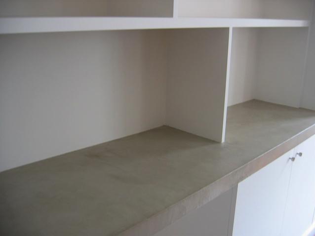 plateau bureau en béton ciré sofia