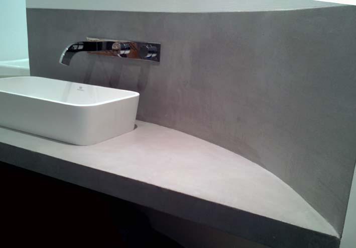 Plan vasque béton ciré flore Molinaro