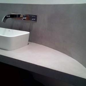 Salle de bain Salle de bain en béton ciré Flore Molinaro